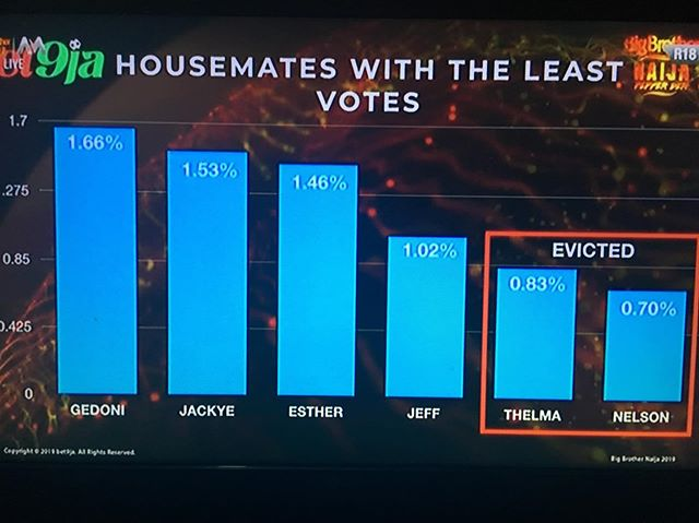 BBNaija 2019: Nelson and Thelma Evicted, How Nigerians voted